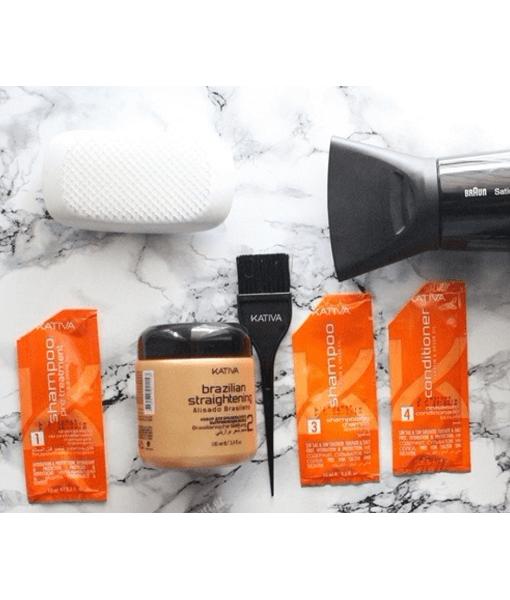 Ισιωτική Κερατίνη Μαλλιών στο Σπίτι - Kativa Brazilian Straightening Kit 4d676fa3c7f